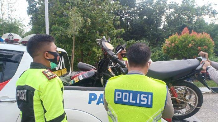 10 Motor Balap Liar di Jalan Kantor Bupati Sarolangun Diangkut Polisi