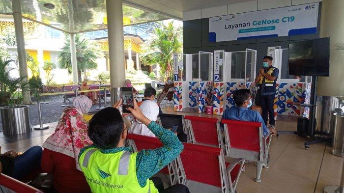 Pertama Kali Uji Coba GeNose C 19 Dilakukan di Bandara Sultan Thaha Jambi