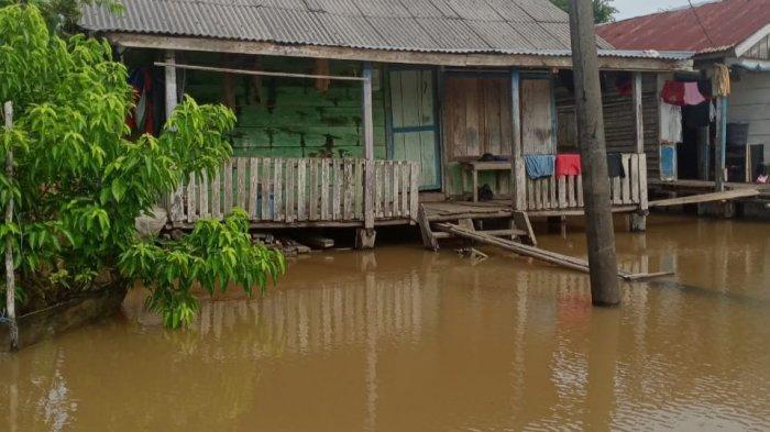22 Rumah di Dusun Sri Gadis, Muarojambi Terendam Air Setinggi Dada Orang Dewasa