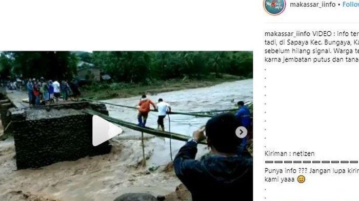 Dramatis, Upaya Petugas Evakuasi Warga Korban Banjir Gowa, Bertahan di Tali Tambang