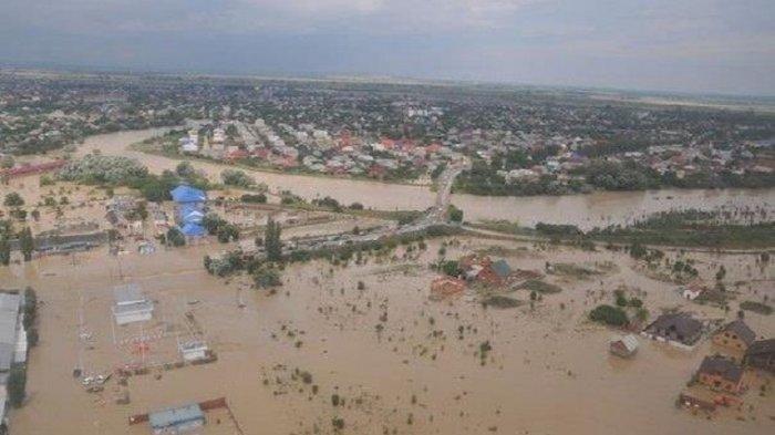 Penampakan udara banjir di Kalimantan Selatan. Warga Kalsel kini membutuhkan bantuan.