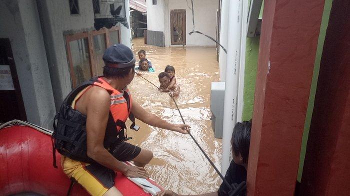 Kecamatan Telanaipura Kota Jambi Ikut Terendam Banjir Menyambut Tahun Baru 2021