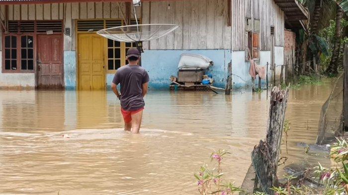 Hujan Semalaman, Lima Kelurahan di Kecamatan Sarolangun Jambi Terendam Banjir