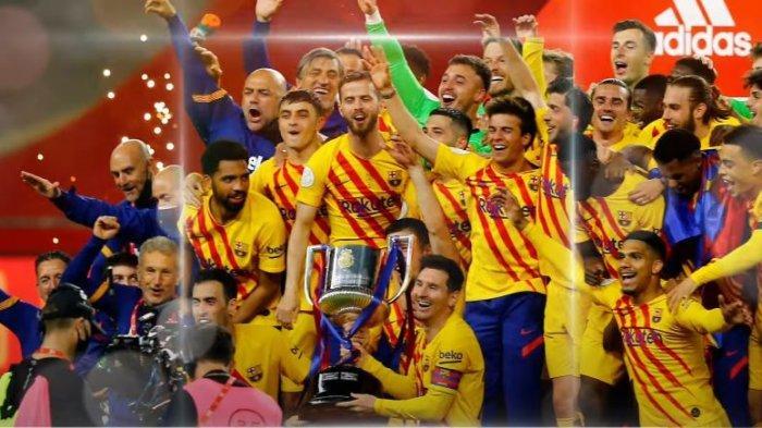 Barcelona juara Copa Del Rey 2021 usai mengalahkan Athletic Bilbao