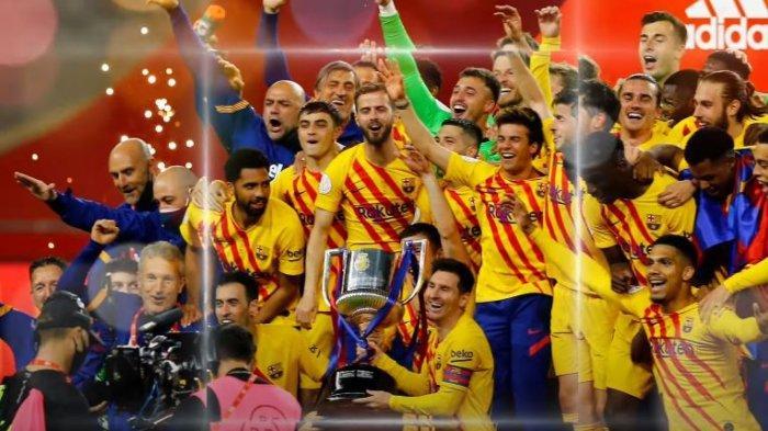Lionel Messi Sukses Bawa Barcelona Juara Copa Del Rey 2021, Real Madrid: Selamat Ya. . .