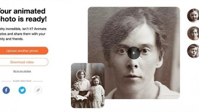 Cara Mudah Edit Foto dengan Menggunakan Aplikasi MyHeritage, Bikin Wajah Seseorang Seperti Hidup