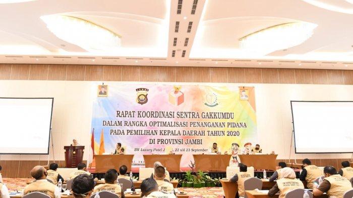 Bawaslu Gelar Rakor Sentra Gakkumdu, Optimalisasi Penanganan Pidana pada Pilkada Jambi 2020