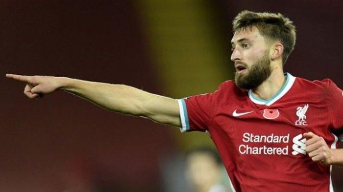 Bek muda Liverpool, Nathaniel Phillips, tampil impresif saat The Reds menang 2-1 atas West Ham pada Sabtu (31/10/2020).
