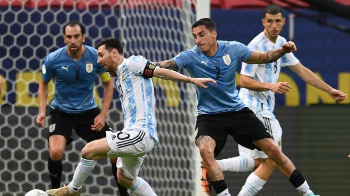 Bentrokan Argentina vs Uruguay akan kembali tersaji di Kualifikasi Piala Dunia 2022, Senin (11/10)