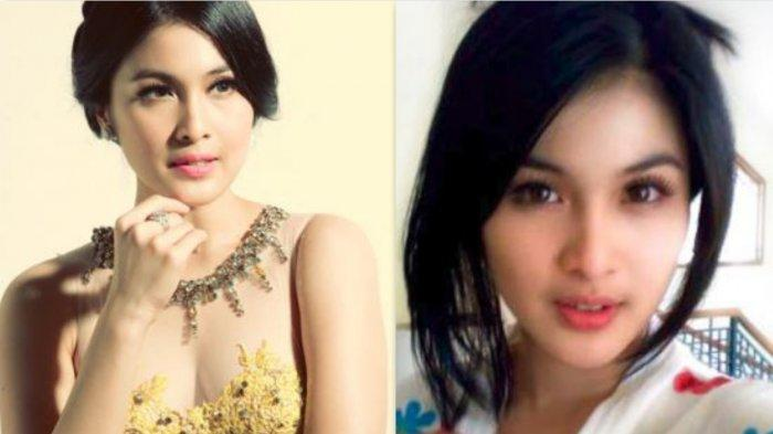 Wajah Sandra Dewi