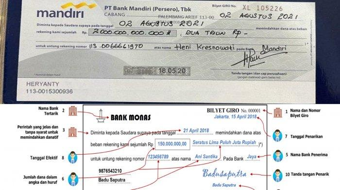 VIRAL Bilyet Giro Rp 2 Triliun atas Nama Heryanty, Pihak Bank Mandiri Enggan Berkomentar