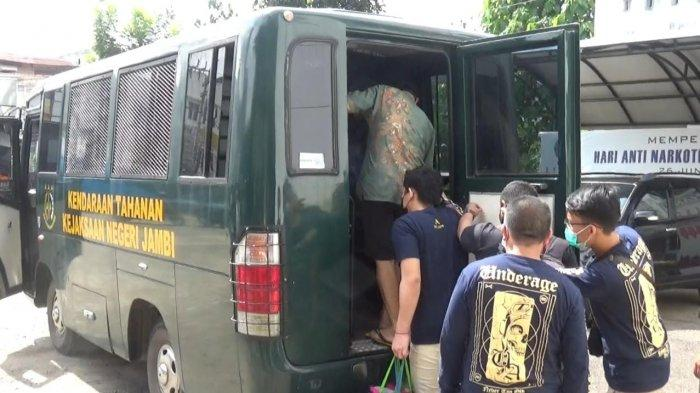 14 Bandar dan Kurir Sabu Tahanan BNNK Jambi Dilimpahkan ke Lapas Narkotika Muara Sabak