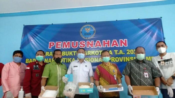 BNNP Jambi Musnahkan 2,1 Kg Sabu Hasil Operasi Dari Januari Hingga Mei 2021