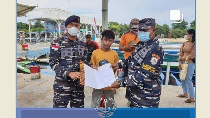 Bocah 14 Tahun Nyaris Mati Terombang-ambil di Tengah Laut, Nyawanya Diselamatkan Pasukan TNI AL