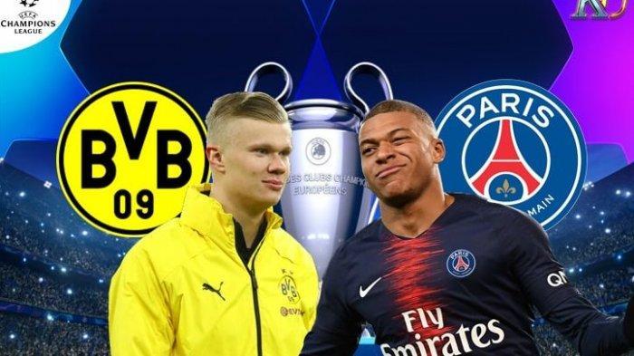 SERU Babak Pertama Cara live Streaming PSG vs Borussia Dortmund di Liga Champions 2020 Malam Ini