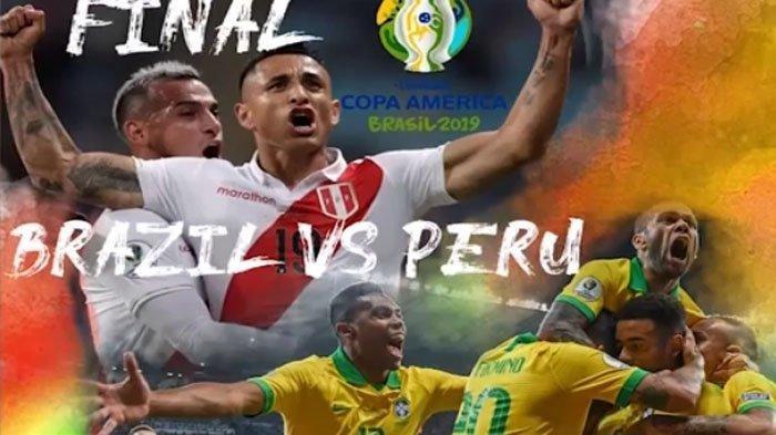 Prediksi Final Copa America 2019 Brazil vs Peru Begini Cara Live Streaming, TV Nasional Tidak Siaran
