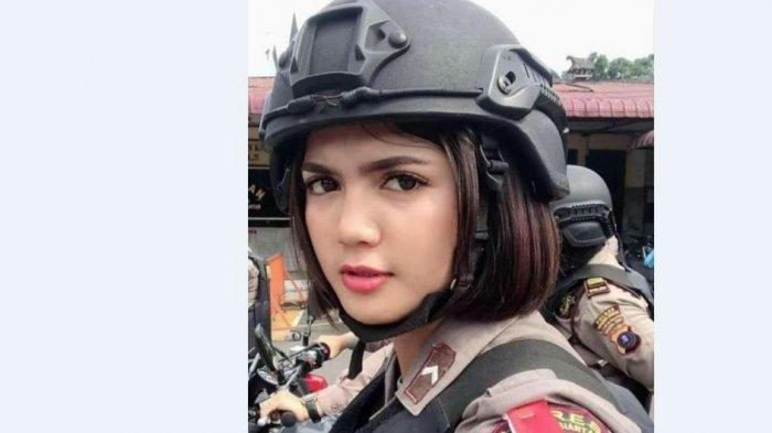 Polwan Bripda Vani Simbolon Sangat Viral, Bikin Tak Takut ke TPS, Tapi Cemberut saat Banjir Pujian