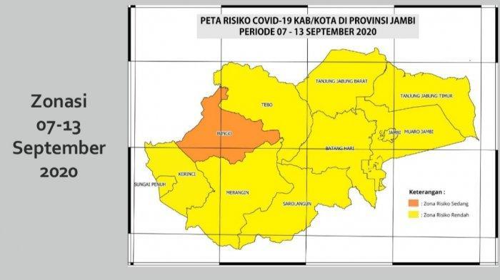 Kasus Covid-19 Meningkat, Kabupaten Bungo Naik Status Jadi Zona Orange