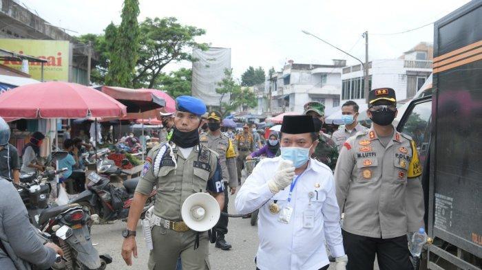 Keliling Bangko Al Haris Himbau warganya Wajib Makai Masker, Program Sejuta Masker dilucurkan