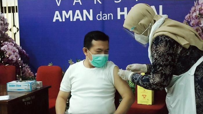Vaksinasi di Merangin, Banyak Forkompinda Gagal Divaksin Karena Ini