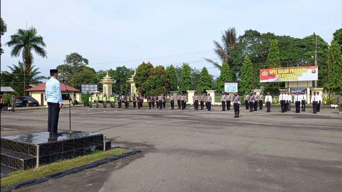 Bupati Tebo Pimpin Apel Gelar Pasukan Operasi Ketupat 2021 di Polres Tebo