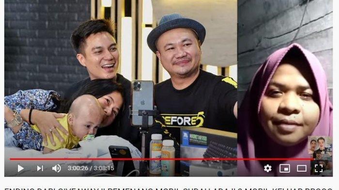 Reaksi Baim Wong ke Latifah, Gadis Asal Jambi Pilih Hal Ini Ketimbang Mobil saat Menangkan Give Away