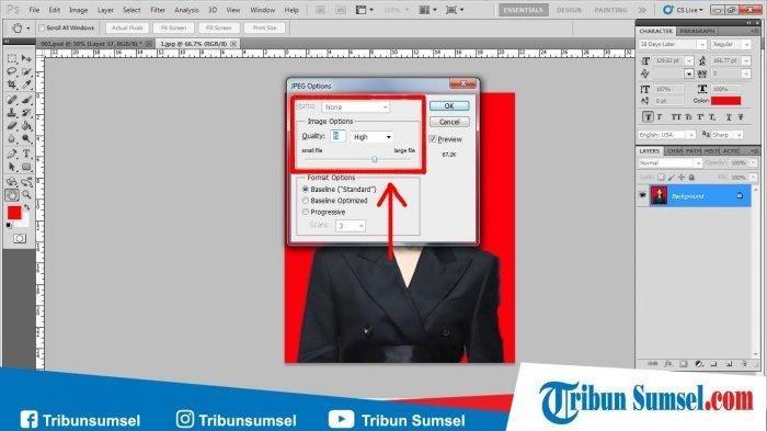 Ini Cara Kompress Mengecilkan Ukuran File Foto Sebagai Syarat Berkas Pendaftaran Cpns 2019 Tribun Jambi