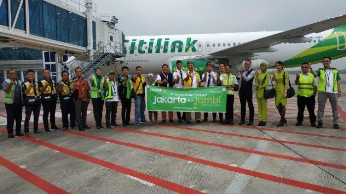 Citilink Layani Penerbangan dari Bandara Sultan Thaha ke Bandara Halim Perdanakusuma