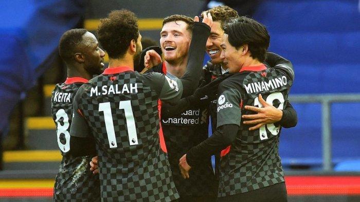 Hasil Bola Malam Ini, Crystal Palace vs Liverpool, The Reds Ciptakan 7 Gol Tanpa Balas
