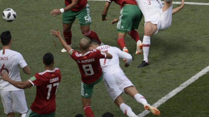 Hasil Skor Portugal VS Maroko Piala Dunia 2018, CR7 Berhasil Bobol Gawang Lawan di Menit Awal