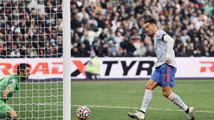 HASIL Liga Inggris West Ham vs Man Utd di Babak Pertama, Ronaldo Buat Gol Penyeimbang Skor 1-1