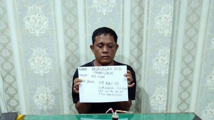 Buang 78 Paket Berisi Sabu ke Samping Rumah, Warga Kembang Paseban Ditangkap Anggota Satresnarkoba