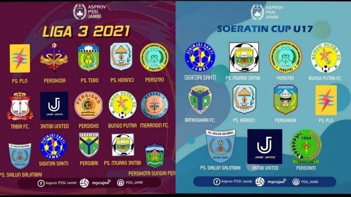 Daftar Klub yang Akan Bertanding di Liga 3 dan Piala Soeratin U-17 Provinsi Jambi
