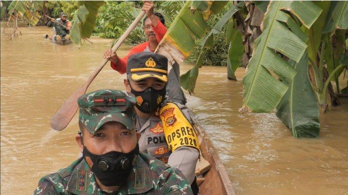 Banyak Kawasan Banjir di Merangin, Dandim dan Kapolres Cek ke TKP