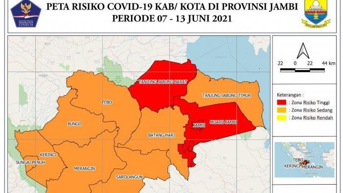 Kasus Covid-19 di Provinsi Jambi Semakin Meningkat, Tiga Daerah Ini Berstatus Zona Merah