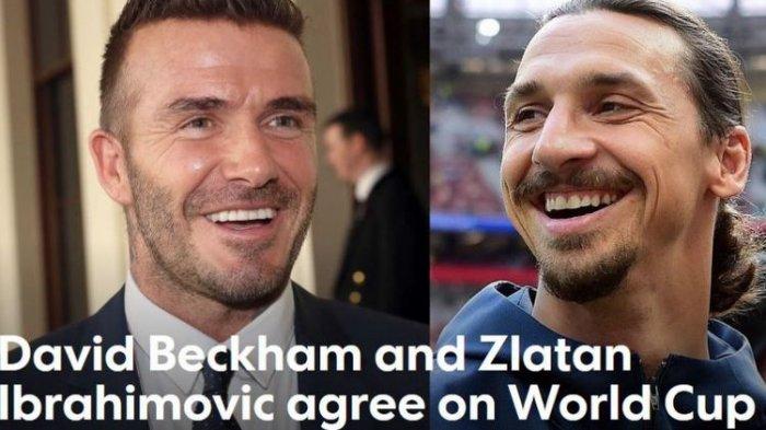 Zlatan Ibrahimovic dan David Beckham Betaruh di Inggris Vs Swedia, Lihat yang Dipertaruhkan