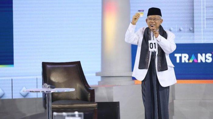 Debat Cawapres 2019,Calon Wakil Presiden Maruf Amin Klaim Pengangguran Turun Sejak 20 Tahun Belakang
