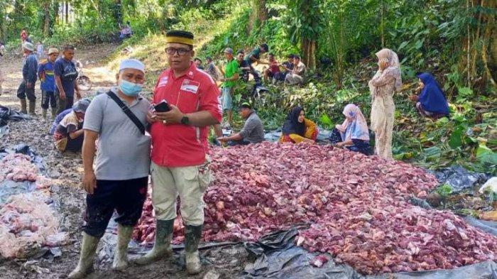 Warga Desa Rantau Gedang Sarolangun Potong 37 Hewan Kurban, Tiap Orang Dapat 3,7 Kilogram