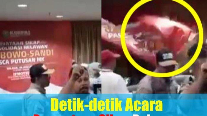 Deretan Fakta Acara Relawan Prabowo-Sandi Berakhir Ricuh, Ada Dugaan Aktor Intelektual!