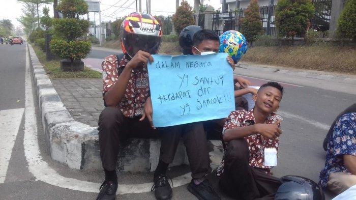 Di Jambi, Pelajar Ikut Aksi Unjuk Rasa Bersama Aliansi Mahasiswa Cipayung Plus, Ini Tuntutan Pendemo