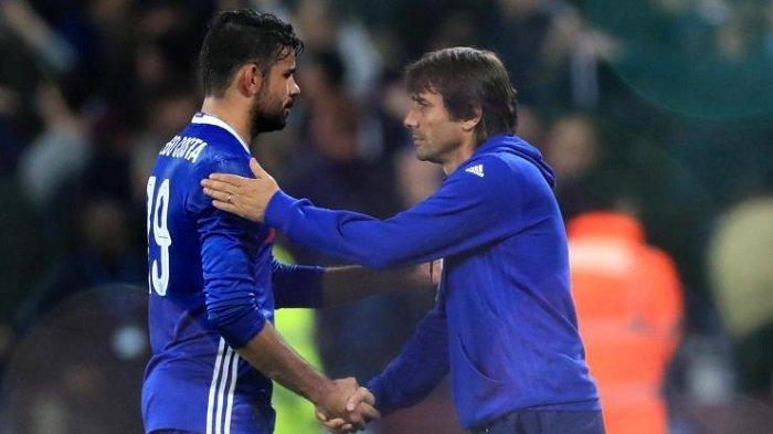 Diego Costa dan Antonio Conte