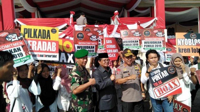 TNI-Polri di Jambi Apel Bersama Hadapi Pileg dan Pilpres 2019