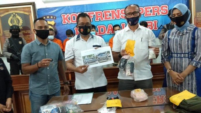 Lima Pelaku Narkotika Jaringan Lapas Diringkus Polda Jambi, Petugas Amankan Setengah Kilo Sabu
