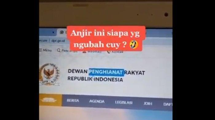 Situs Resmi DPR Dihack Jadi 'Dewan Penghianat Rakyat' Viral, Tolak UU Cipta Kerja, Sekjen: Editan