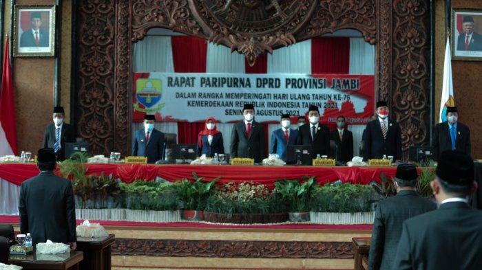 DPRD Provinsi Jambi Gelar Paripurna Dengarkan Pidato Presiden Joko Widodo Secara Virtual