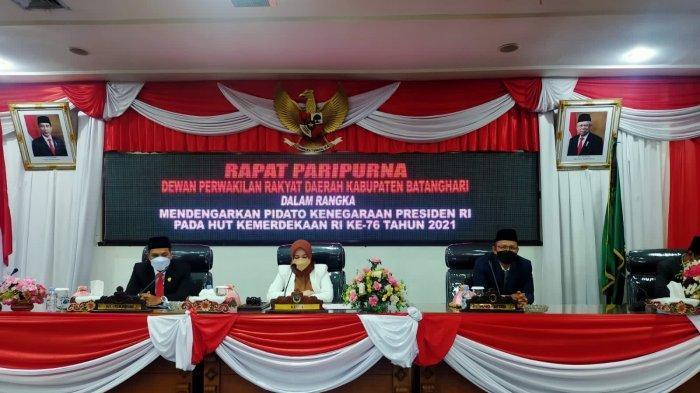 DPRD Batanghari Gelar Paripurna Mendengarkan Pidato Kenegaraan Presiden RI Joko Widodo