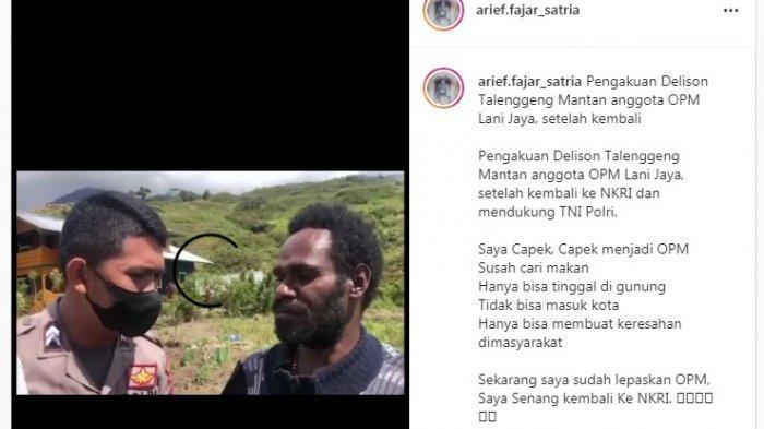 Dua Anggota KKB Papua Menyerah Karena Capek dan Sering Kelaparan, Serahkan Senjata Api ke Polisi