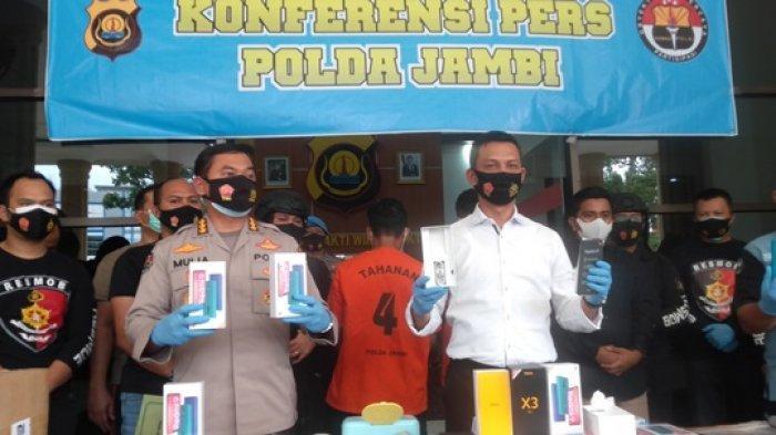 Perampok 1.245 Unit Handphone Disertai Penyekapan Sopir di Jambi Ditembak Polisi