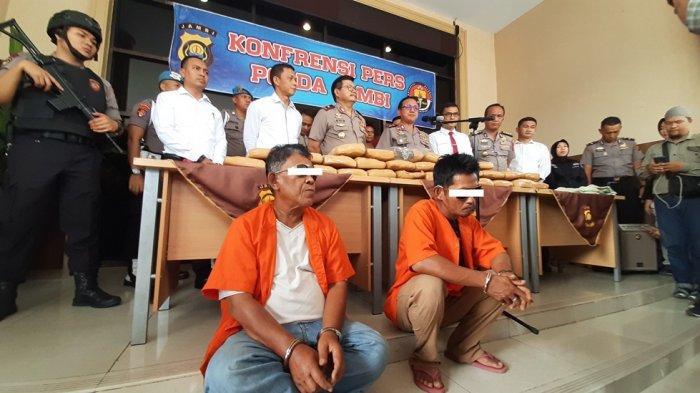 BREAKING NEWS Polda Jambi Sita 29 Kg Ganja Siap Edar, JH Simpan di Gudang SD di Kebun Daging