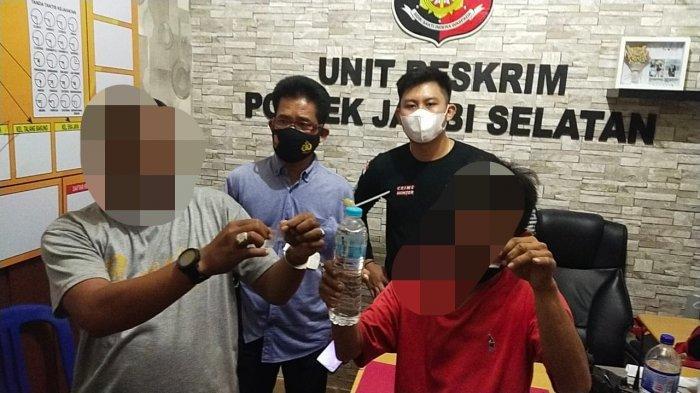Digerebek Saat Konsumsi Sabu, Dua Warga Kota Jambi Tak Berkutik, Polisi Temukan 9 Paket Sabu-sabu